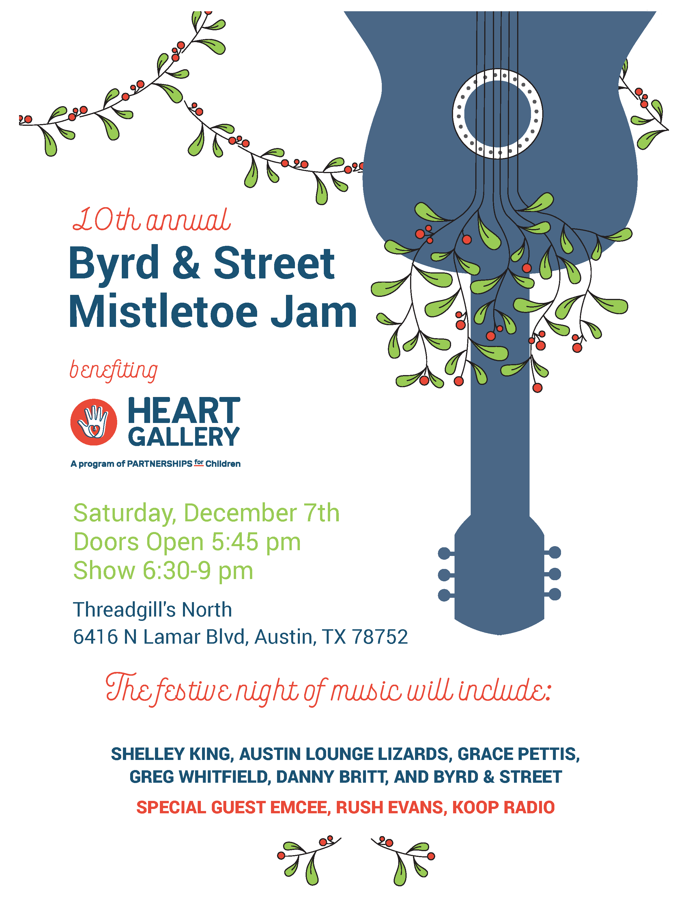 Mistletoe Jam event invitation