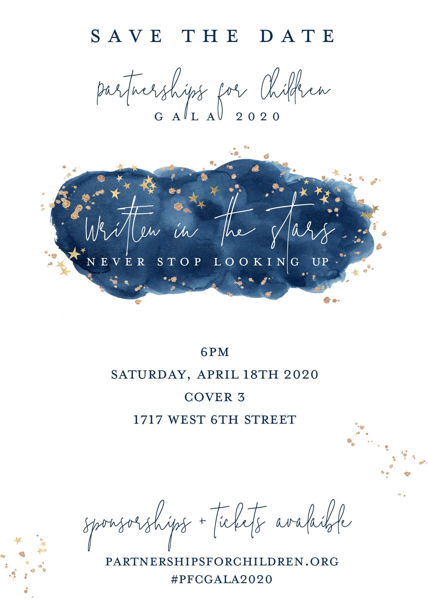 UPDATED Gala Save the Date